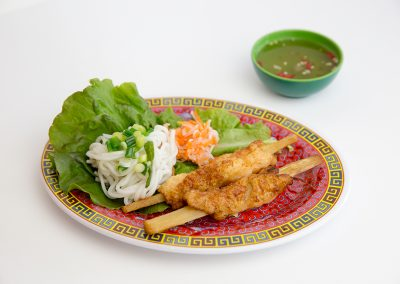 Shrimp paste on sugarcane