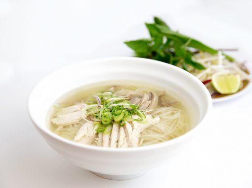 Chicken rice noodle soup