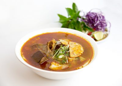 Hue style vermicelli spicy soup